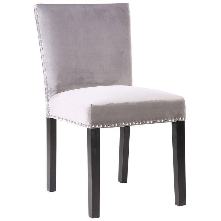 Addison velvet dining chair grey in 2020 velvet dining