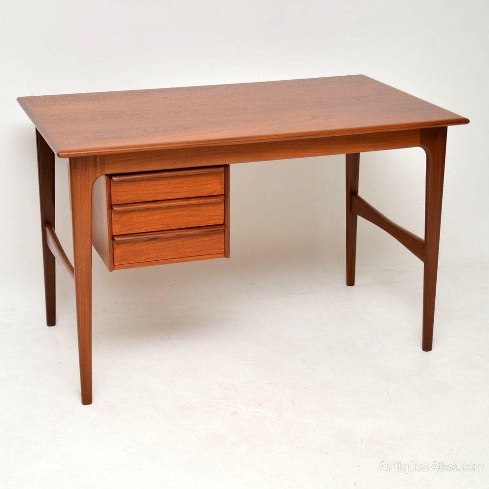 1960 S Vintage Danish Teak Desk Vintage Danish Modern Furniture