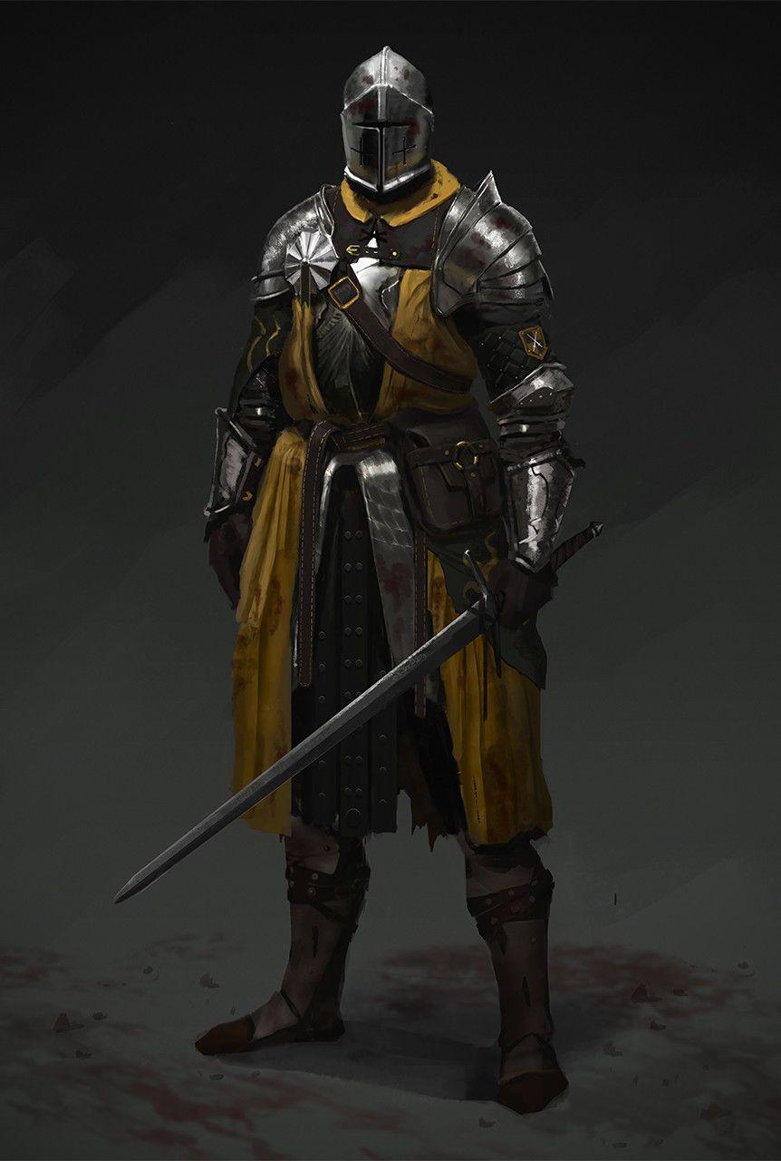 Mustard knight, Evgeniy Petlya on ArtStation at https ...