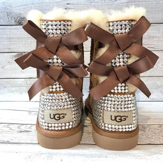 0b734d6039a KIDS bling bailey bow ugg boots- FREE SHIPPING- girls bedazzled ugg ...