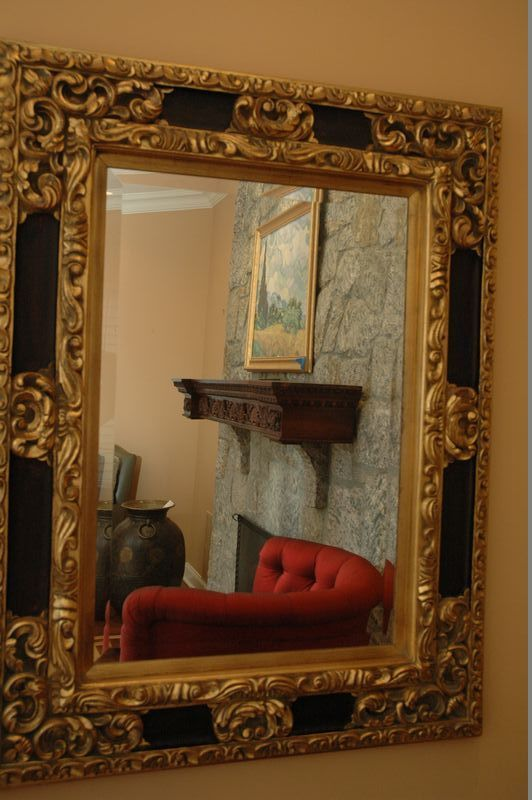 Ornate Mirror With Beveled Glass And Carved Wood Design Measuring 38 X 48 Contents Of Stunning Chappaqua Estate Ornate Mirror Mirror Wood Design