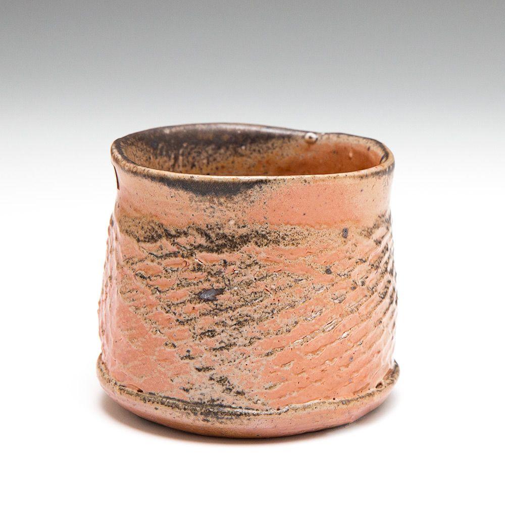 Nic Collins   Straight-sided Tea Bowl   Shino & natural ash glaze