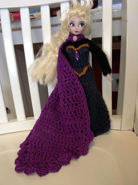 Elsa\'s Coronation Dress ~ Free Crochet Pattern! :) | Puppenkleider ...