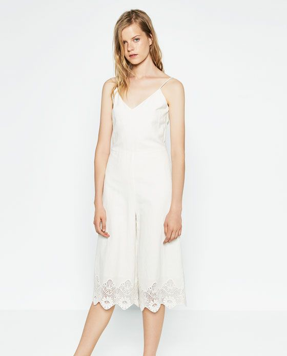 2cd5a77a259 LINEN JUMPSUIT from Zara