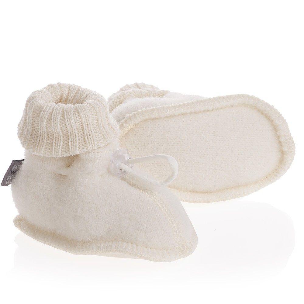 342259a5a96 Baby Ivory Merino Wool Thermal Fleece Booties | Babies | Merino wool ...