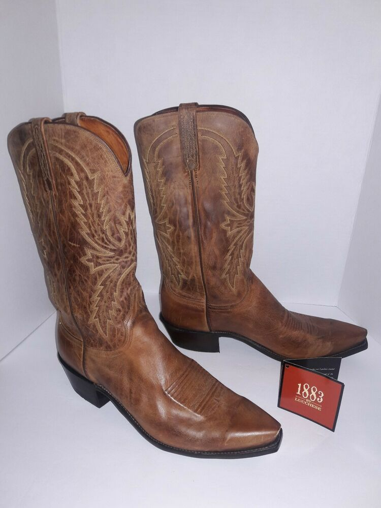 22f078bc3d7 Ad)eBay - Lucchese Tan Mad Dog Goat Cowboy Boots Men Sz 10 | Boots ...