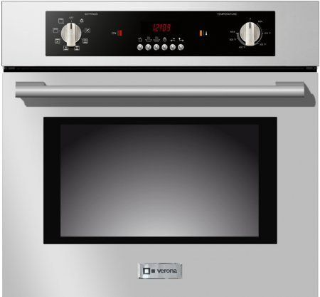 Verona Vebiem241ss 24 Electric 110 Volts Wall Oven With 2 0 Cu Ft Oven Capacity 8 Cooking Functions E Electric Wall Oven Single Electric Wall Oven Wall Oven
