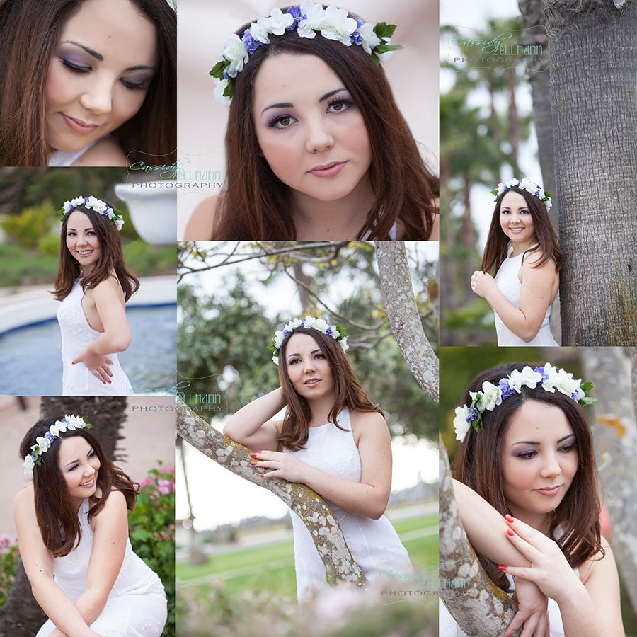 Fun outdoor stylized senior photo session with floral crown.  Top Las Vegas senior photographer  #Cassidy Zellmann Photography Senior picture ideas for girls. ideas.www.zellmannphotography.com