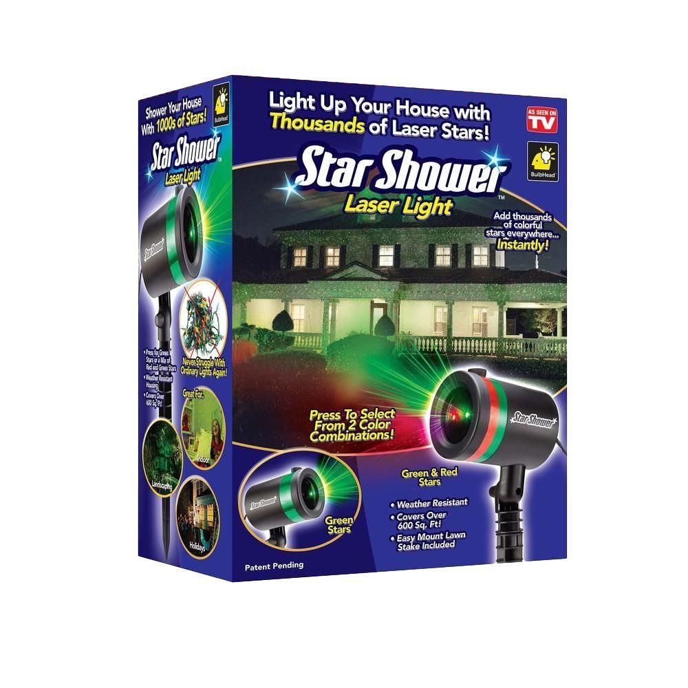 40 star shower laser light projector as seen on tv 9400 6 the home depot