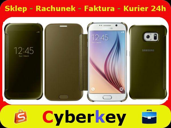 Etui Samsung Galaxy S6 Clear View Cover Gold 5379727129 Oficjalne Archiwum Allegro Samsung Galaxy Galaxy Samsung Galaxy S6