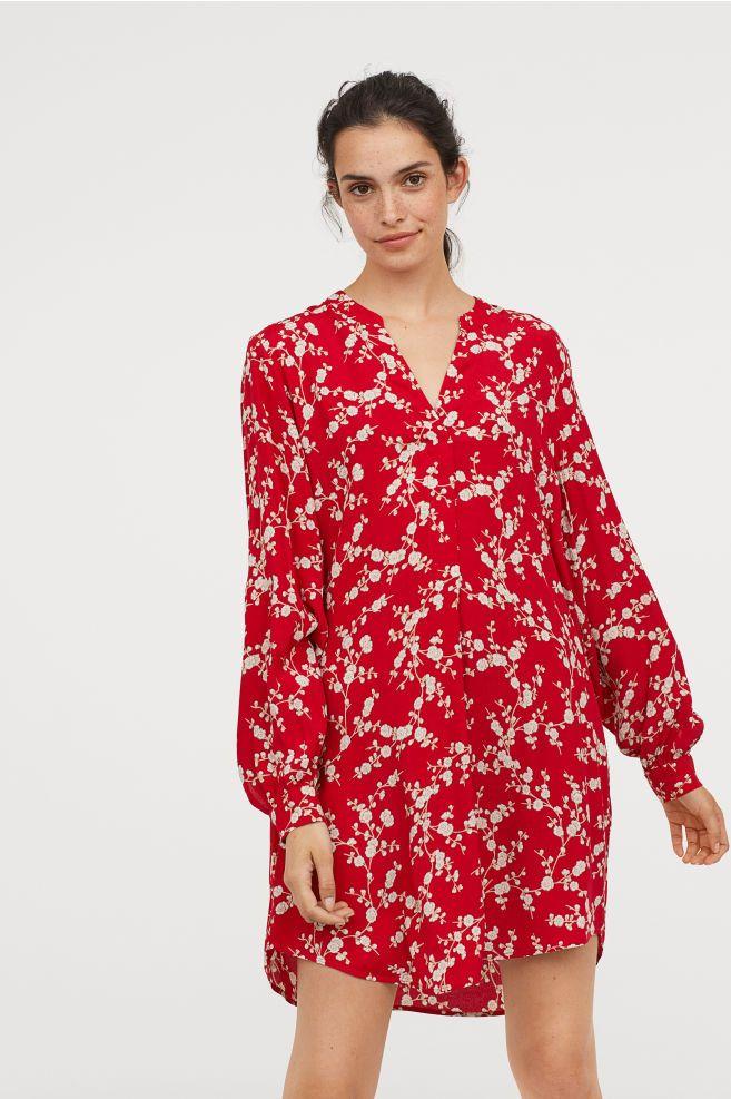04bd66e892a3b Robe en viscose à motif | Pants | Robe, Robe courte et Viscose