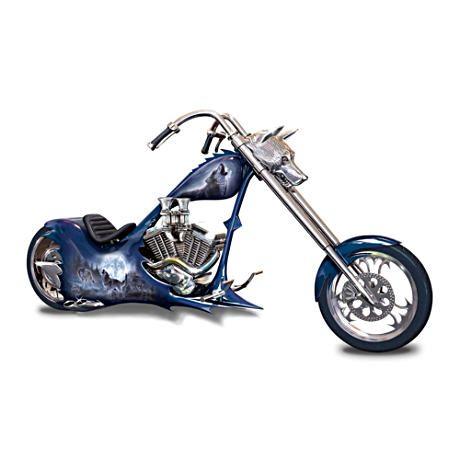 Night Stalker Wolf Art Chopper Figurine Motorcycle Figurine Motorcycle Chopper