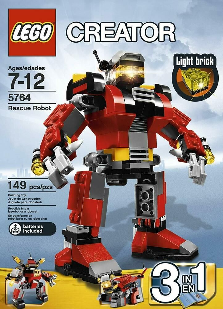 Details About Lego 4610932 Creator 3 In 1 Rescue Robot 5764 New In 2020 Lego Creator Lego Creator Sets Lego