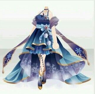 Mysterious blue and purple dress