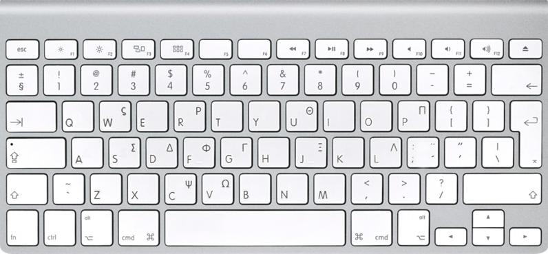 Apple keyboard, Greek | Keyboards | Mac keyboard shortcuts, Keyboard