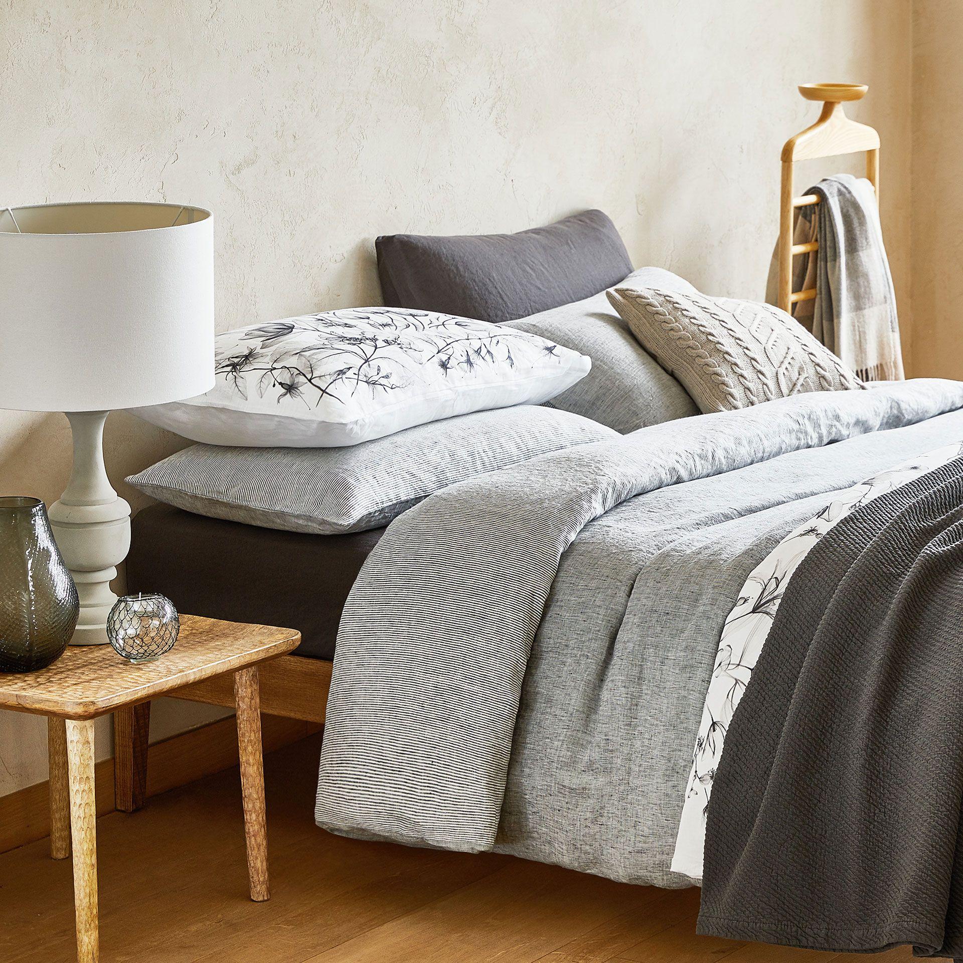 image 2 du produit housse de couette lin lav fil teint r versible zara home pinterest. Black Bedroom Furniture Sets. Home Design Ideas