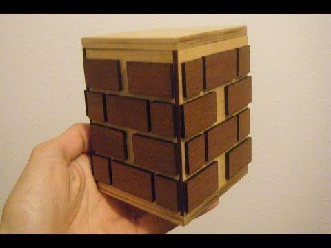 Sliding Puzzle Box (How To Make) - YouTube | DIY | Money puzzle box