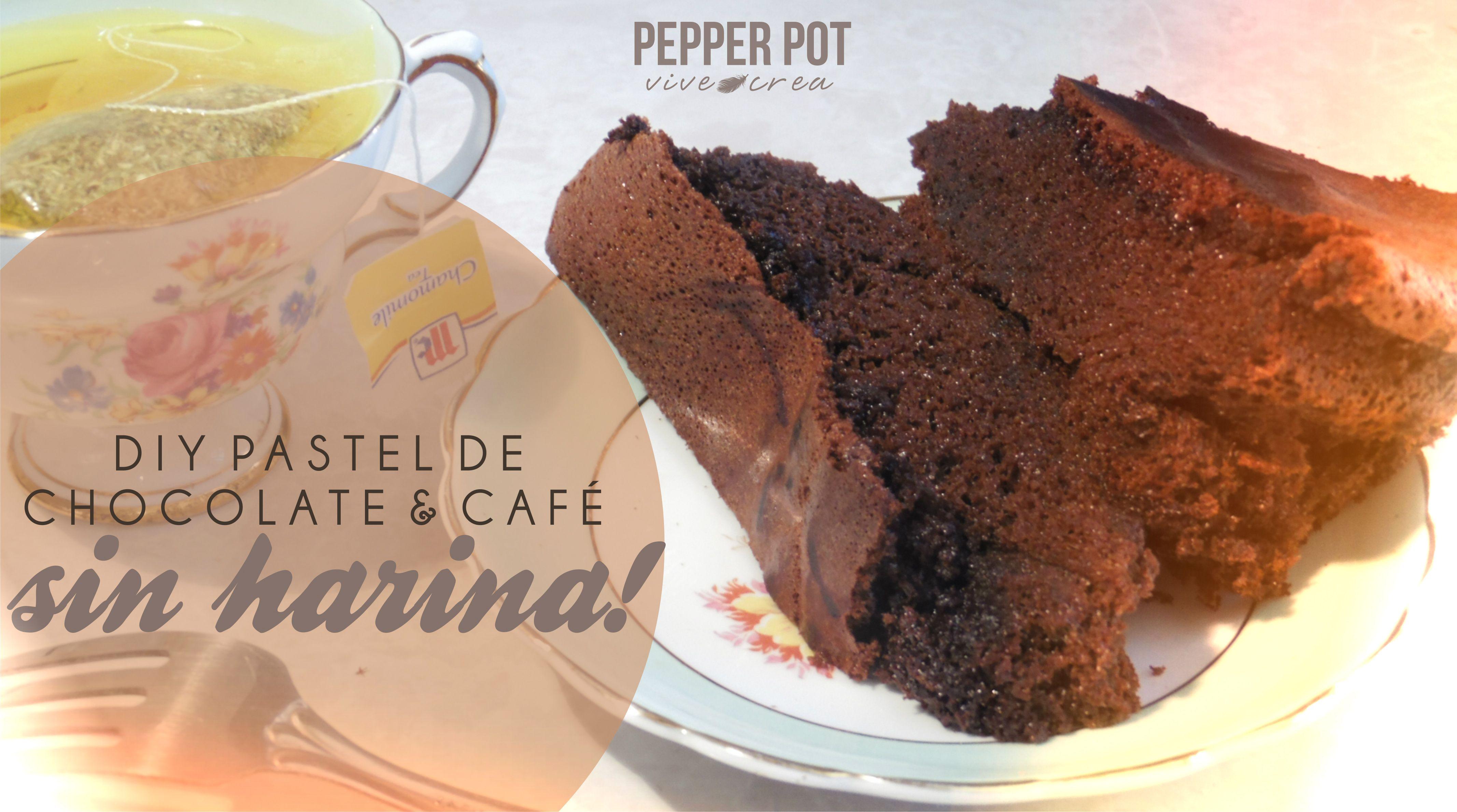 Disfruta sin culpa de este delicioso pastel de chocolate & café sin harina! https://www.youtube.com/user/pocionpimienta