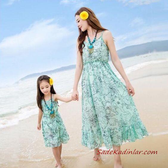 2020 Anne Kız Elbise ve Kıyafet Kombinleri Yeşil Midi Askılı Çiçek Desenli Elbise | SadeKadınlar, Kıyafet Kombinleri #moda #fashion #fashionblogger #damenmode #mode #damenoutfits #outfits #kombin #annekız #annekızelbiseleri #annekızkıyafetleri #annebebekkombin #kombinleri #kombinönerileri #outfitsoftheday #girl #kıyafetkombinleri #şıkkombinler