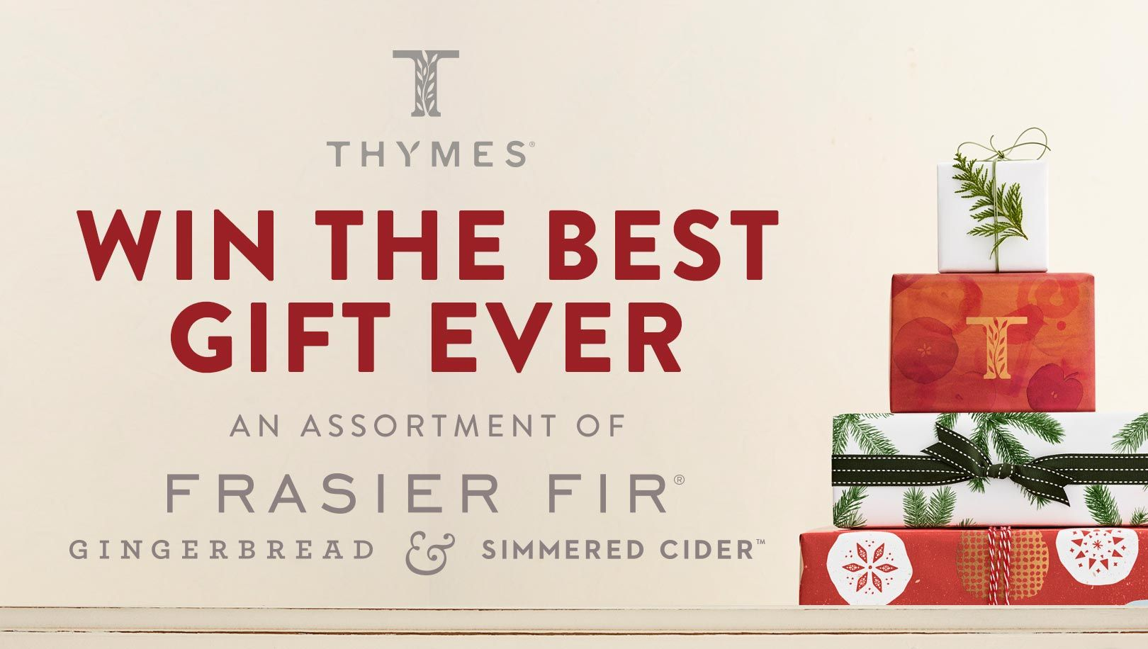 Enter to win amazing home fragrance products from Thymes. Collection of products include fragrances like  Frasier Fir, Simmered Cider and Gingerbread with a retail value of over $370!