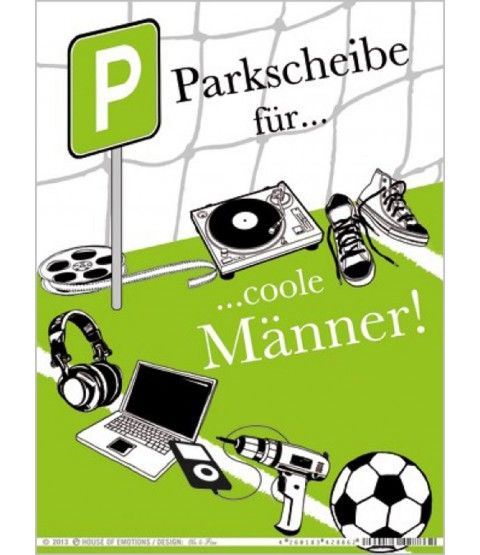 house of emotions parkscheibe m nnerparkhilfe karton geschenk parkkarte parkuhr 2. Black Bedroom Furniture Sets. Home Design Ideas