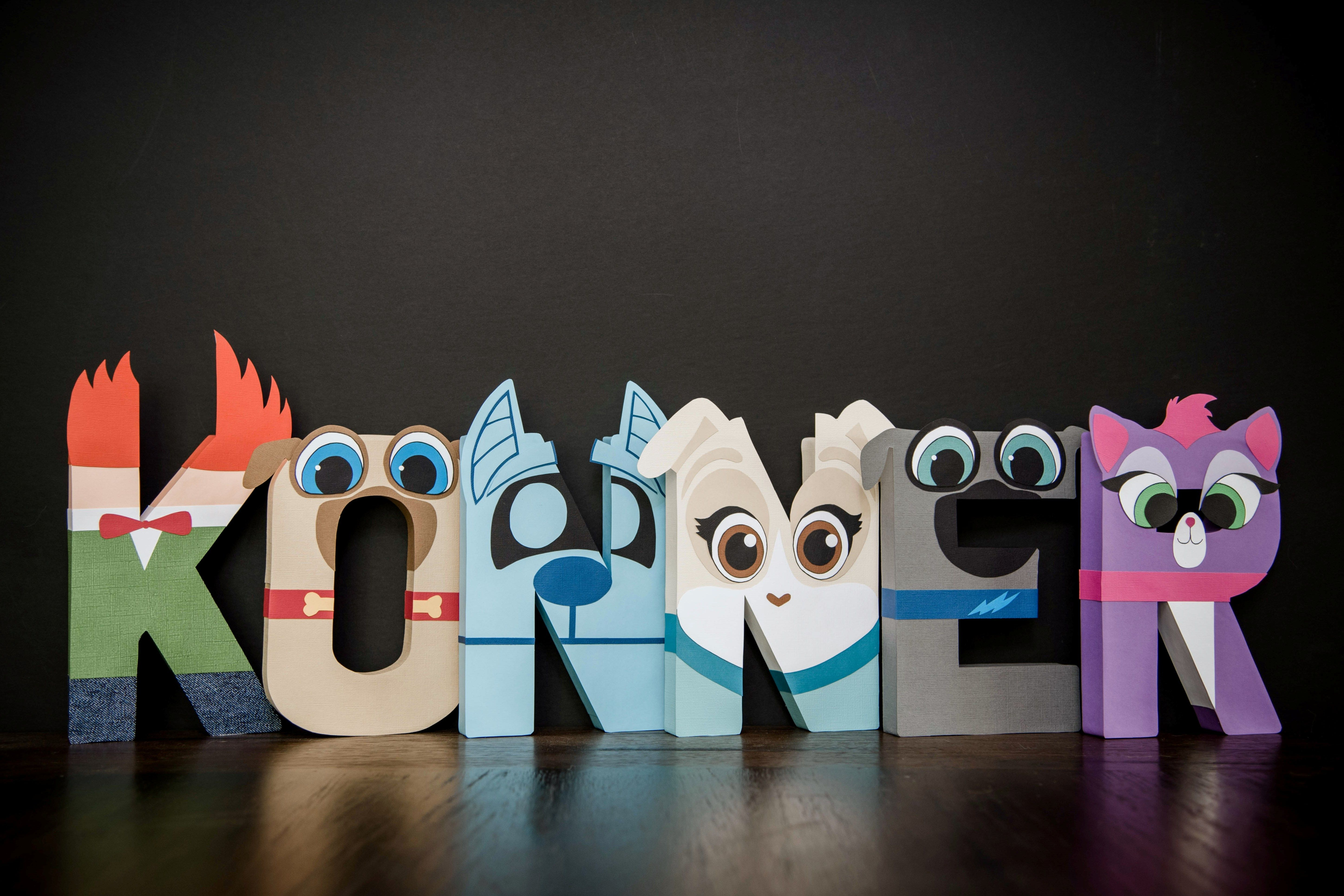 Custom Listing For One Puppy Dog Pals Milestone Paper Mache Letters Puppy Birthday Parties Paper Mache Letters Paw Party [ 3858 x 5787 Pixel ]
