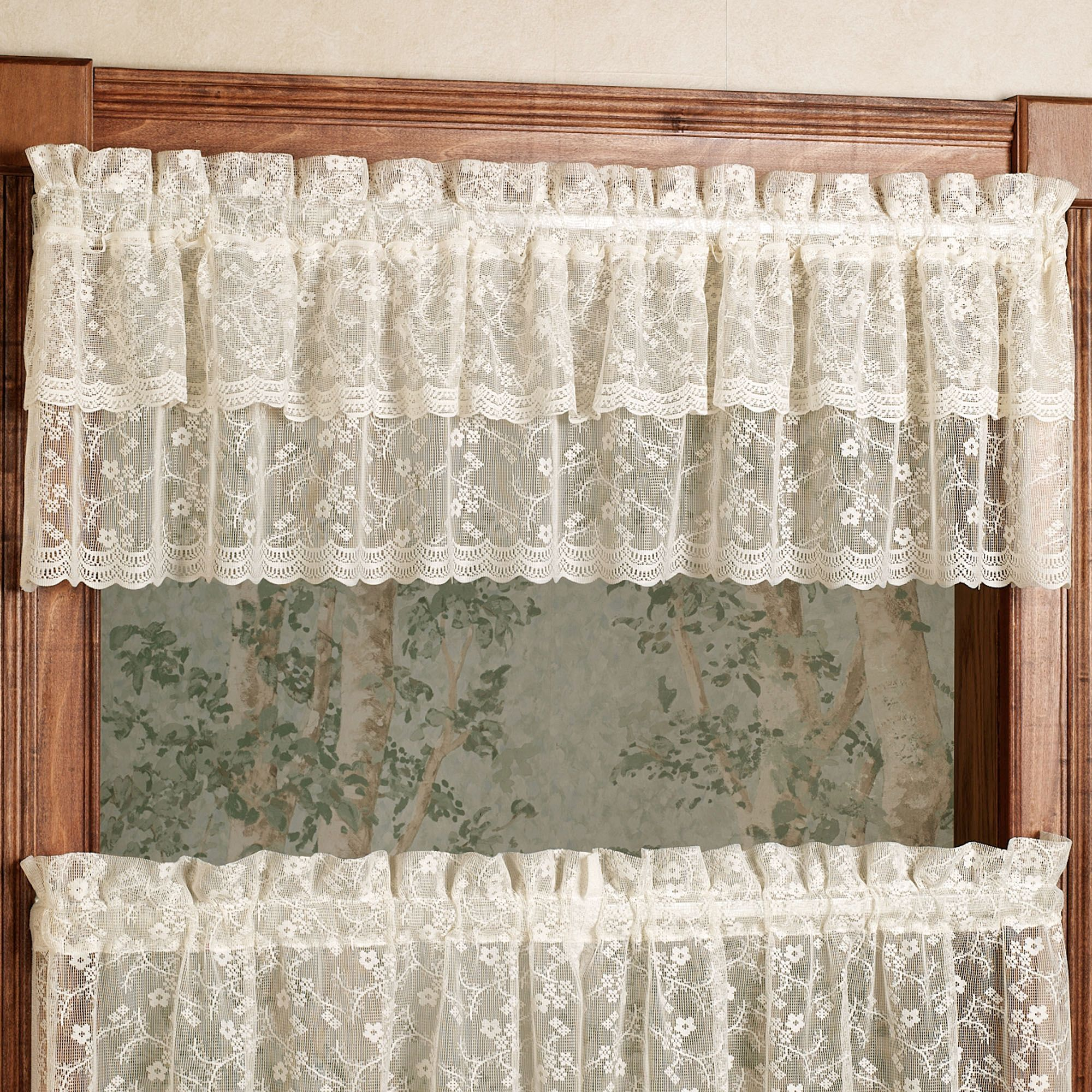 Bridal Lace Ruffled Valance 60 X 12 Ruffle Curtains Curtains
