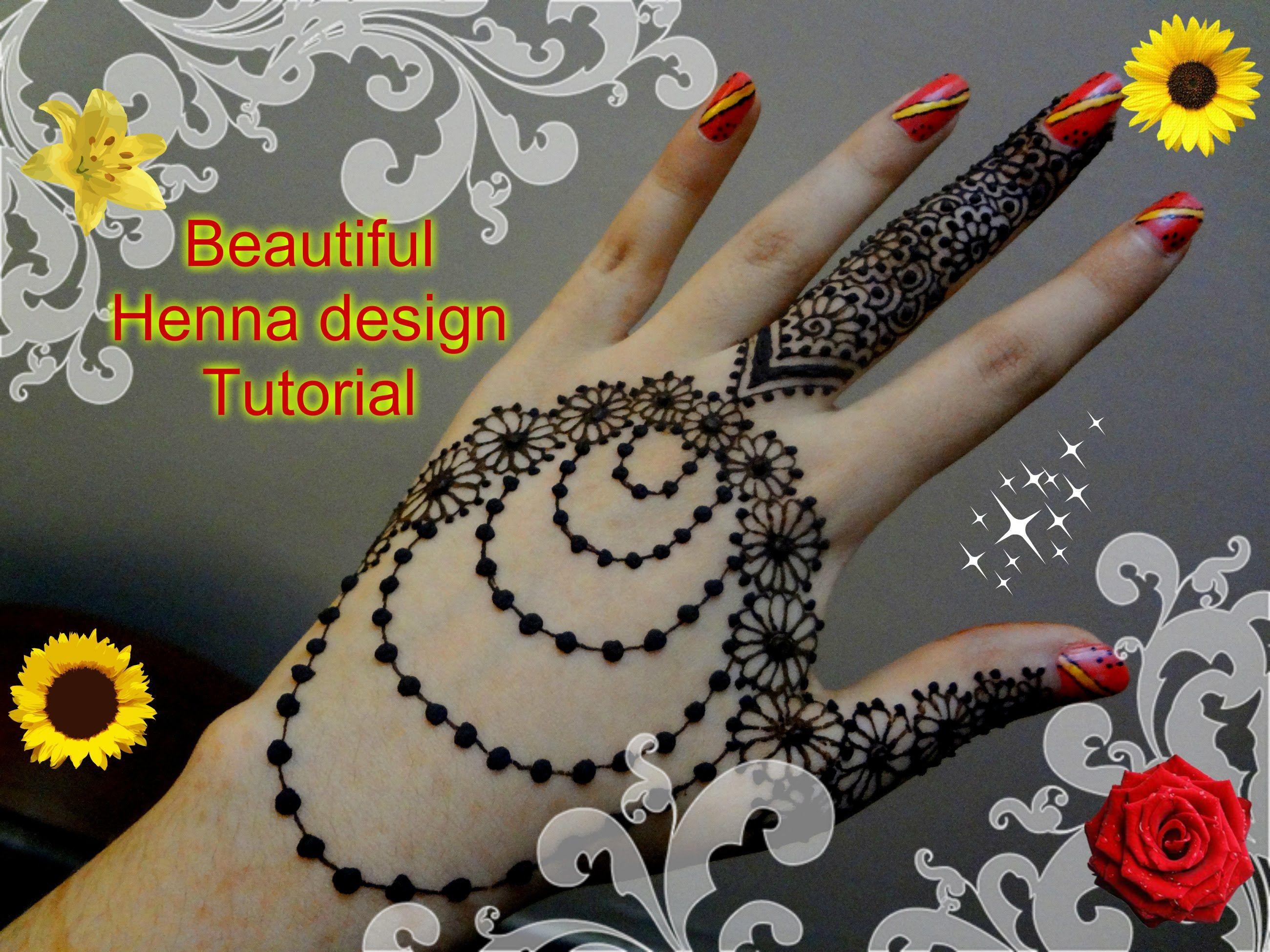 Best And Beautiful Henna Mehndi Jewellery Inspired Design Tutorial For Eid Mehndi Designs Beautiful Henna Designs Henna Mehndi