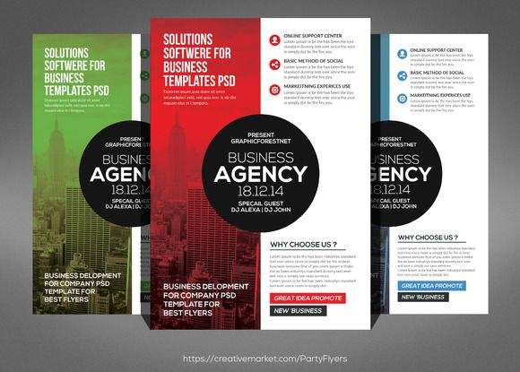 Modern Business Agency Flyer by Party Flyers on @creativework247 - new business flyers
