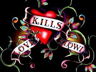 Ed hardy love kills slowly wallpaper love kills slowly - Ed hardy designs wallpaper ...