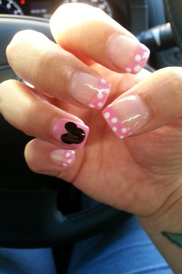 Minnie Mouse Nails | Beauty Finds | Pinterest | Diseños de uñas, Uña ...