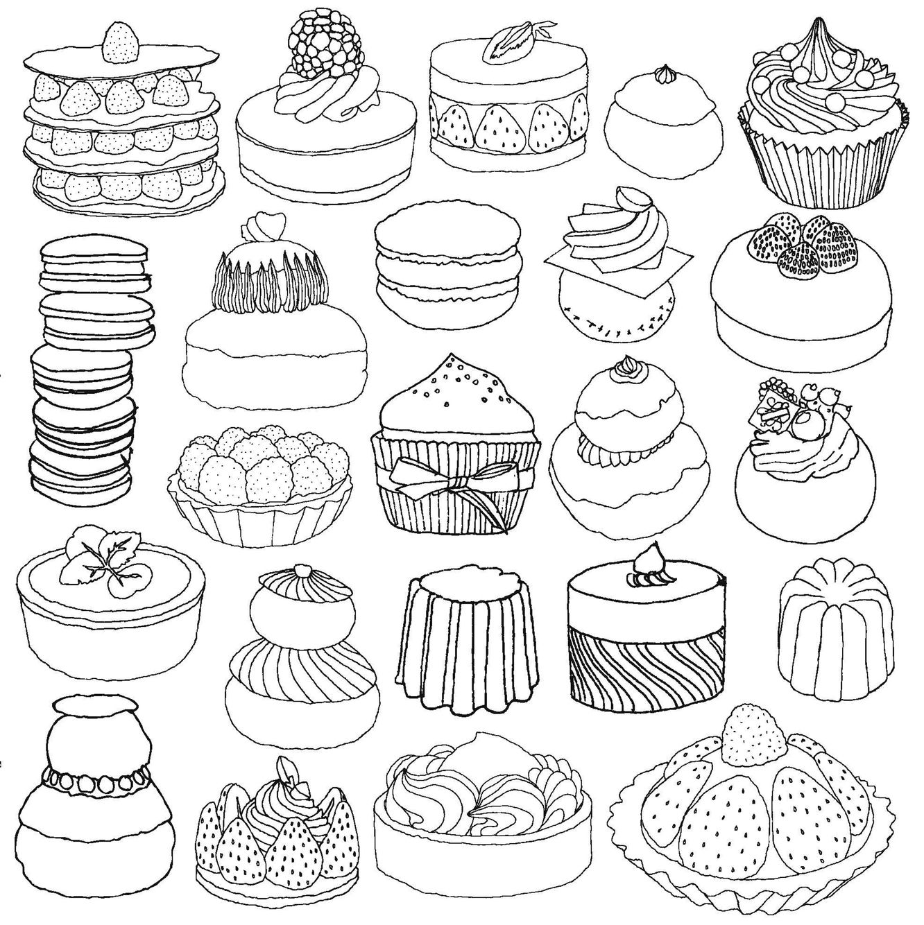 Summer Food Coloring Pages Display