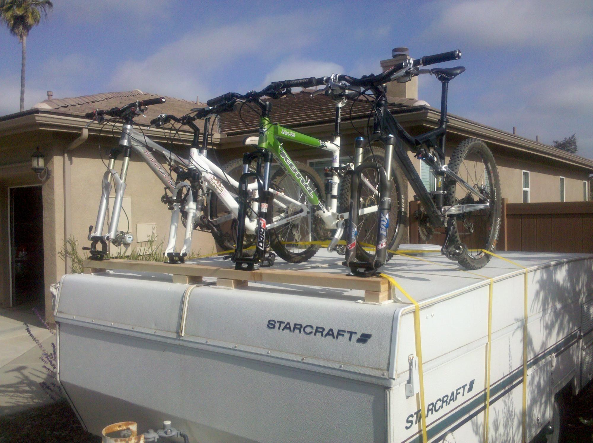 DIY - Bike Rack for Pop-Up Camper | Camper Stuff | Diy bike
