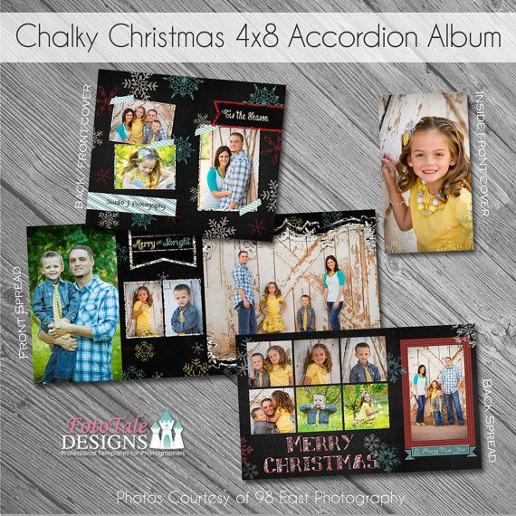 SALE Chalky Christmas 4x8 Accordion Album by fototaledesigns, $6.00