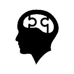 Themeage Silhouette Head Icon Vector