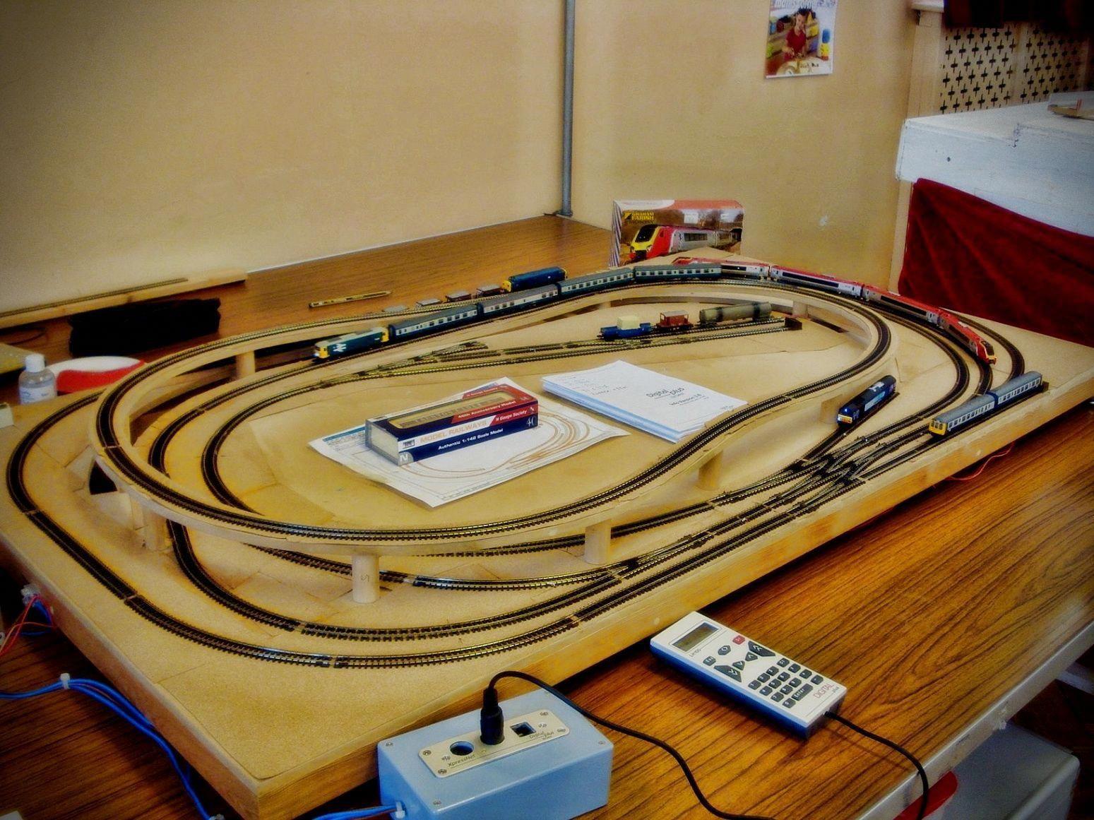 Model railroad various types of model railroad track