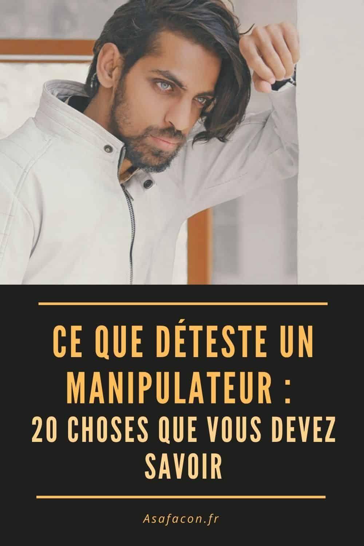 Le Silence Face A Un Manipulateur : silence, manipulateur, Déteste, Manipulateur, Choses, Devez, Savoir, Deteste,, Manipulateur,, Narcissique