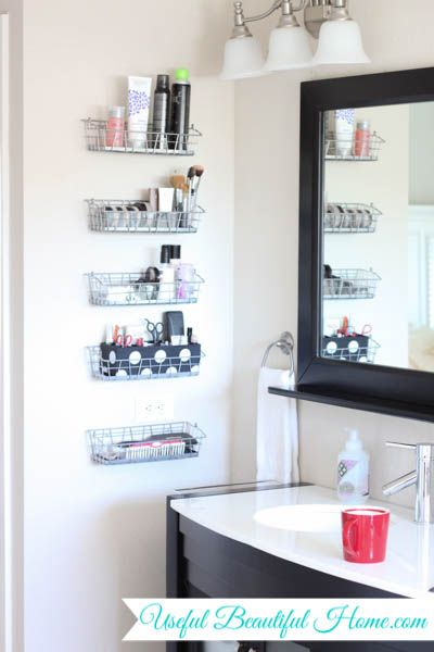 Vertical Vanity Organization For Your Bathroom