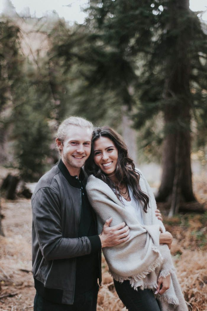 This couple's engagement session gives us all the warm fuzzies | Image by Blush Photography