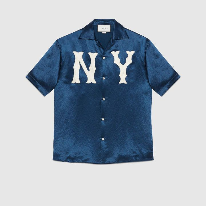 fdbdf57af Men s bowling shirt with NY Yankees™ patch in 2019