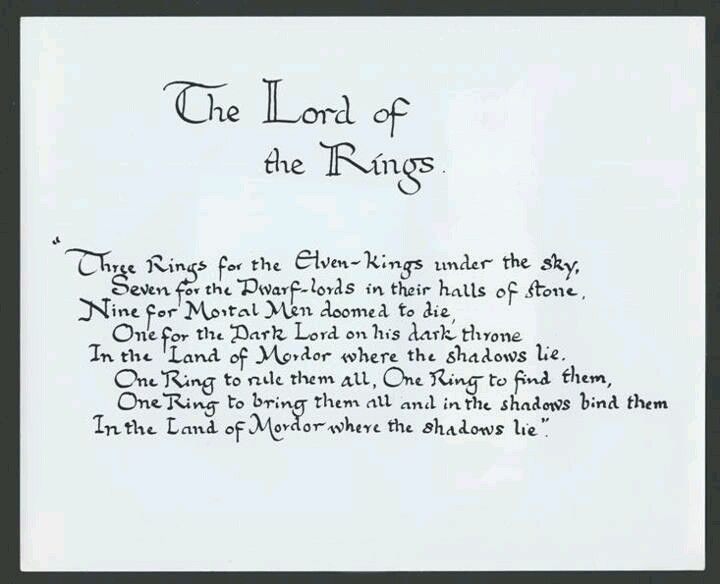 One Ring To Rule Them All Quote Page Number The Ring Verse Hand Written By Tolkien Himself 3 Tolkien Lord Of The Rings The Hobbit
