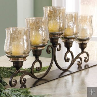 Handcrafted Iron Candelabra Grandin Road Dining Room Centerpiece Candle Centerpieces Dining Room Table Candles