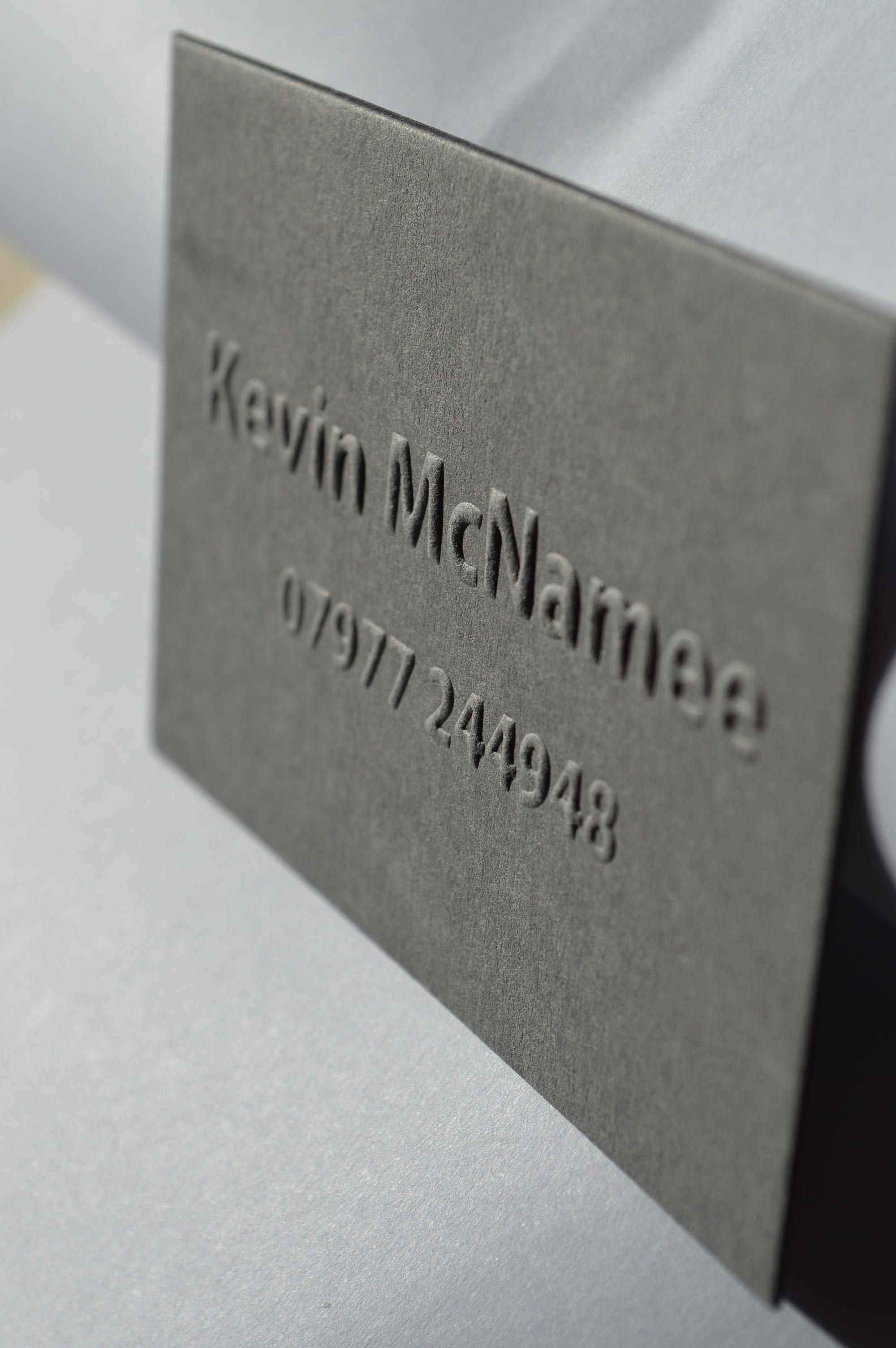 fembossed business card | embossed business cards stationery uk ...