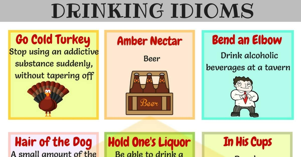 15 Useful Drinking Idioms Phrases And Sayings Idioms English