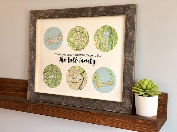 Mother Gift Family Travels Print Birthday For Mom From Daughter Mothers Day Ideas Sentim