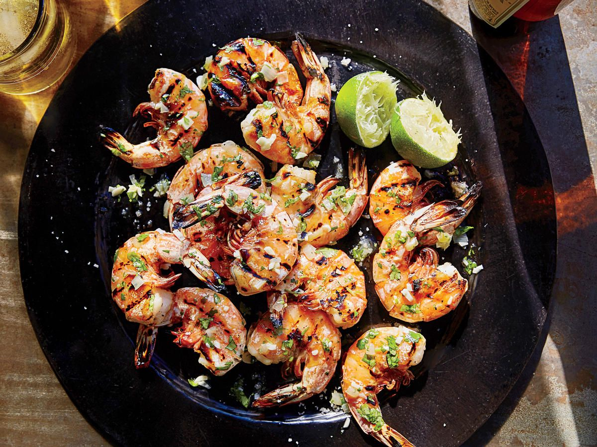 Shrimp on the barbie grilling fish and recipes