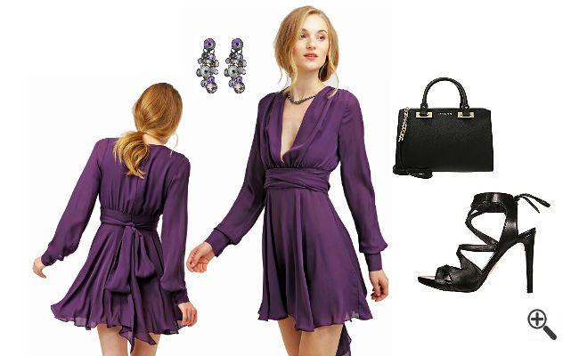 Kleider hochzeitsgast lila
