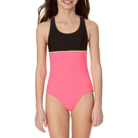 645aeceec5 LIttle Girls' 4-6X Color Block Athletic One Piece Swimsuit in 2019 ...