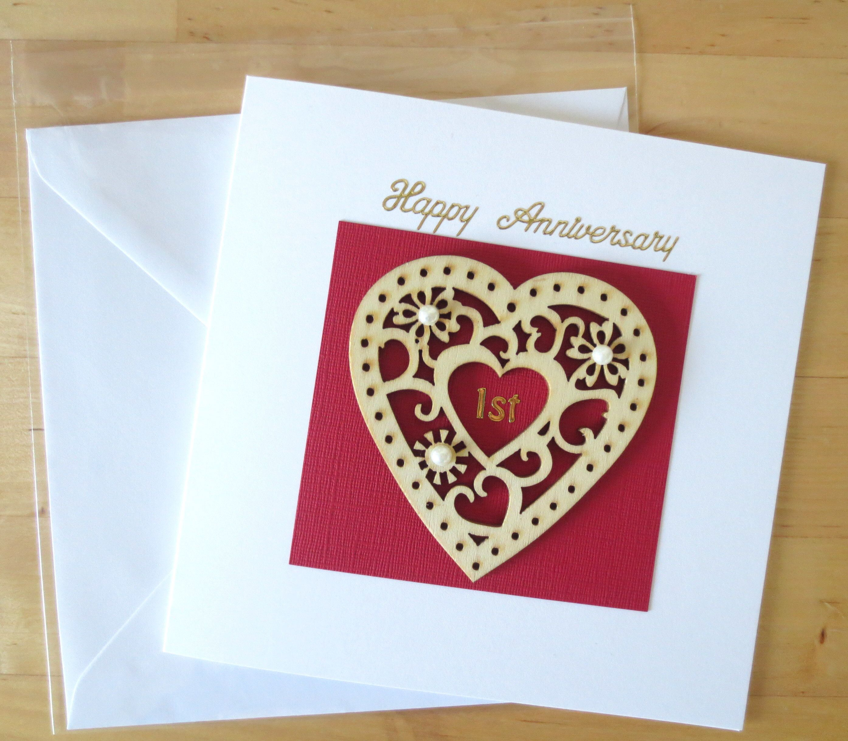5th Wedding Anniversary Gift Ideas For Husband: Wooden Anniversary Card Gift, First 1st Anniversary Card