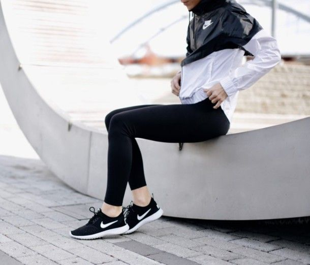 Shoes: tumblr sneakers nike nike nike roshe run nike jacket sportswear  sports jacket sports black